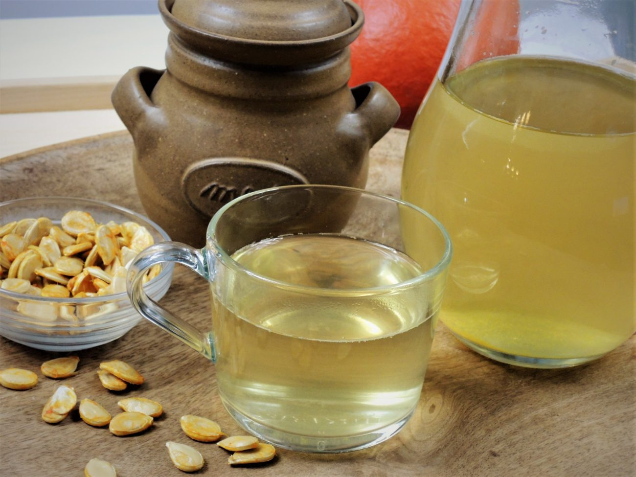 Čaj z dýňových semínek