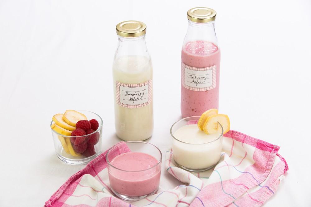 Ovocné kefírové mléko