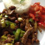 Vepřové nudličky s jasmínovou rýží