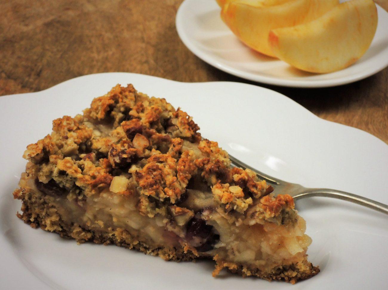 Vločkový koláč s jablečnou náplní