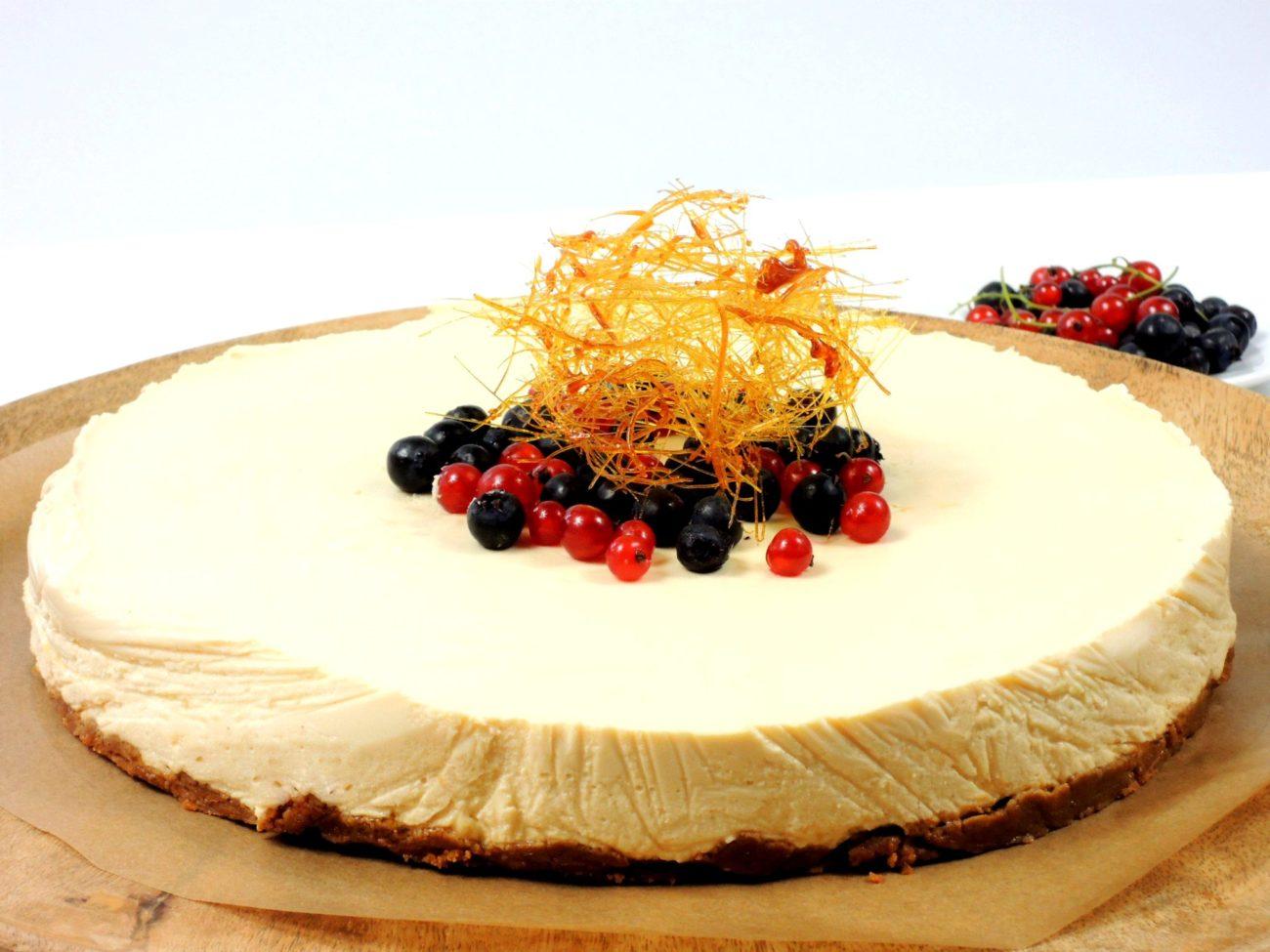 Karamelový nepečený cheesecake