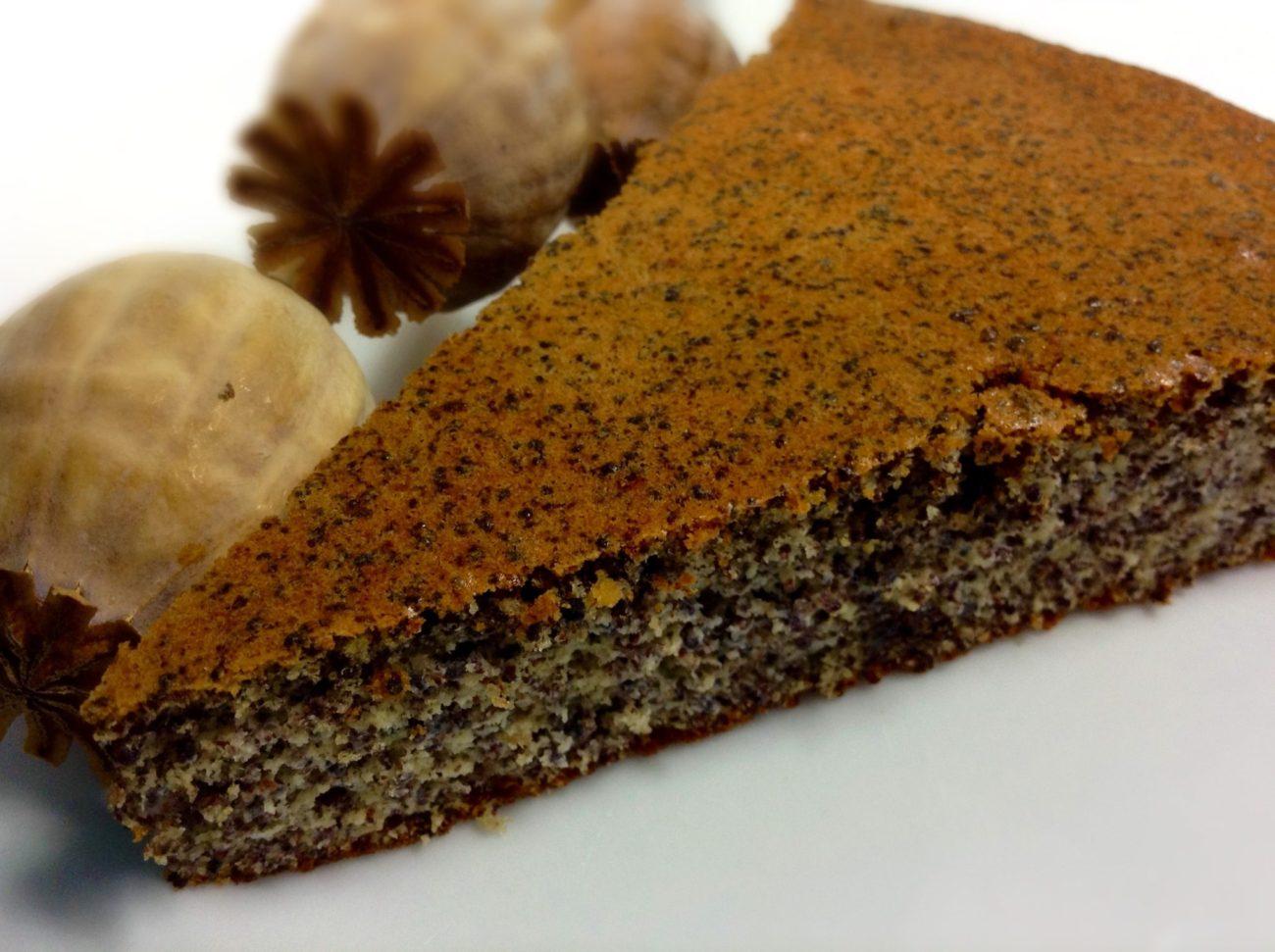 Makový koláč bez mouky