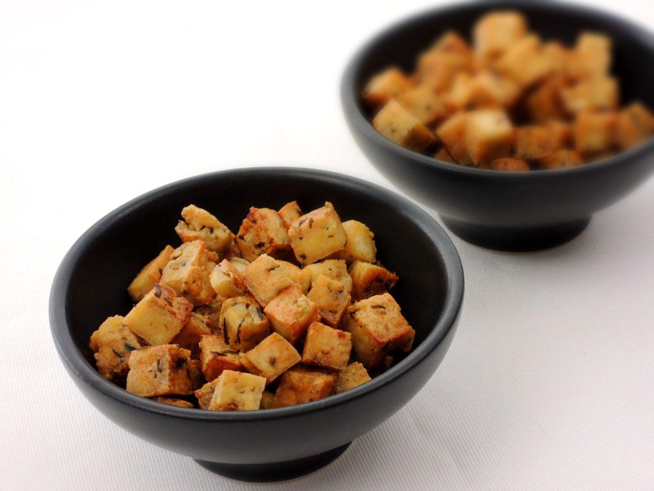 Krutony do polévky z tofu