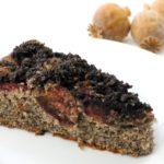 Nekynutý celomakový koláč se švestkami
