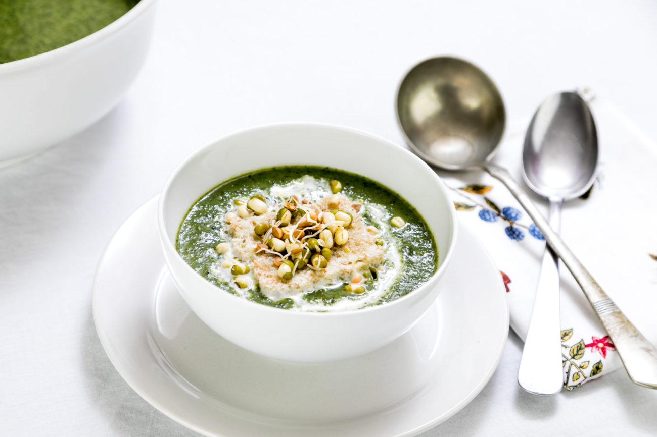 Divoká polévka z kopřiv a pampelišek