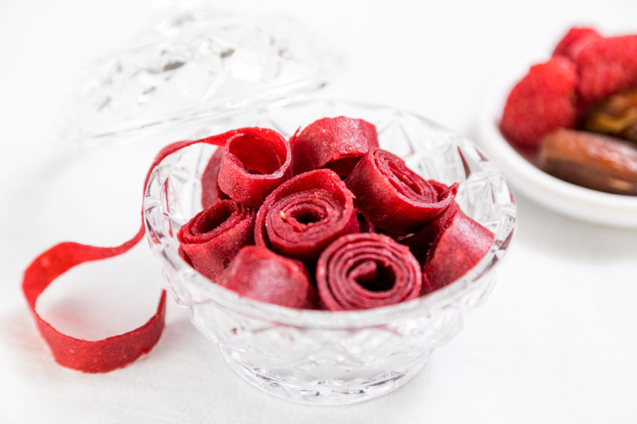 Rybízovo-malinové raw bonbóny