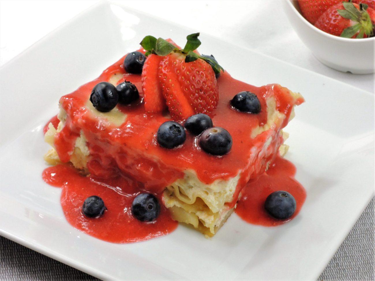 Ovocné lasagne