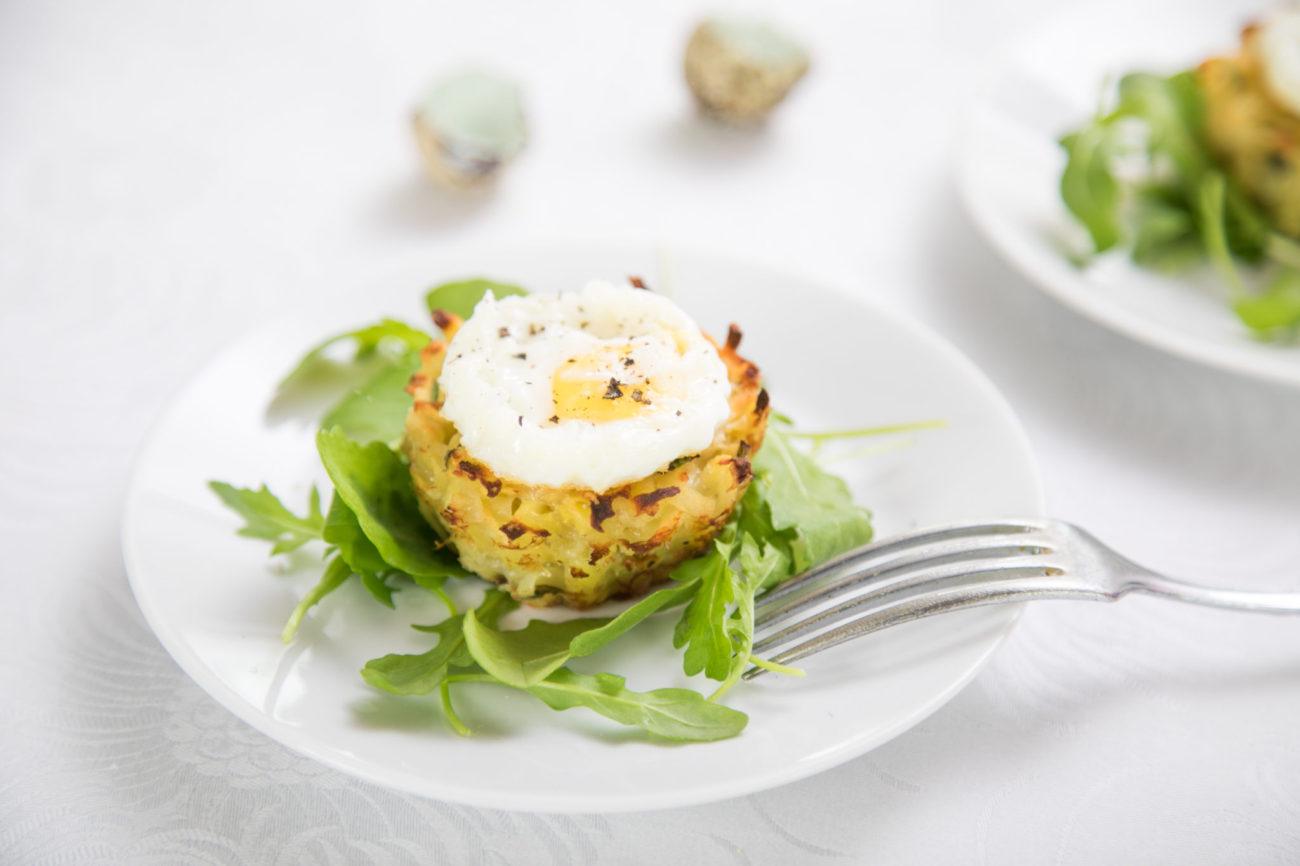 Bramborové muffiny s křepelčími vejci