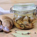 Nakládané čirůvky - houbové zavináče