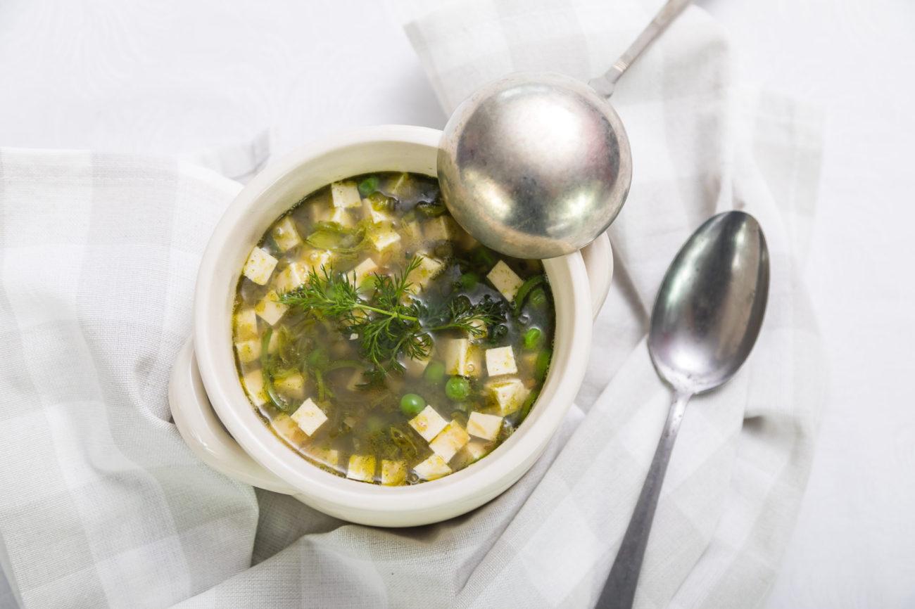 Polévka z munga a hrášku