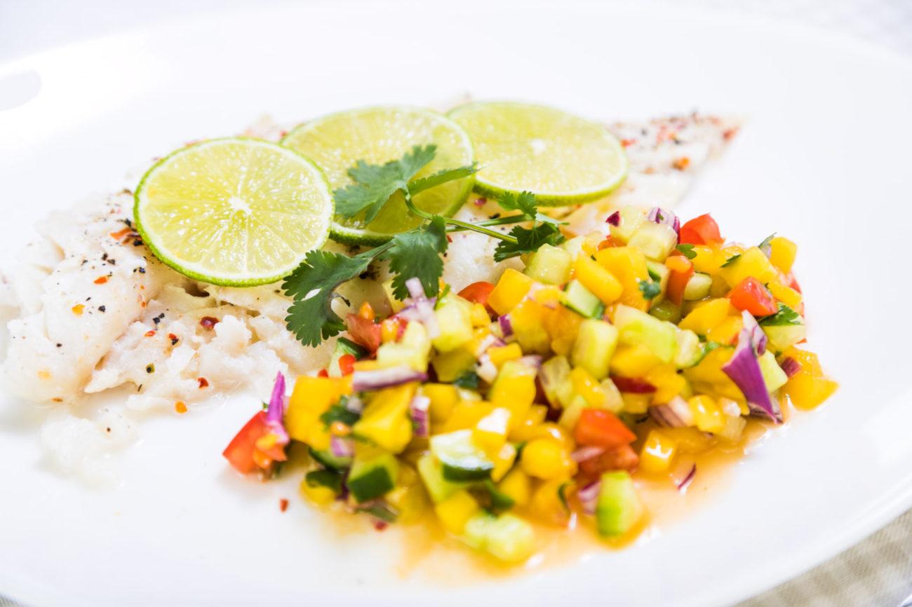 Rybí filet s pikantní salsou