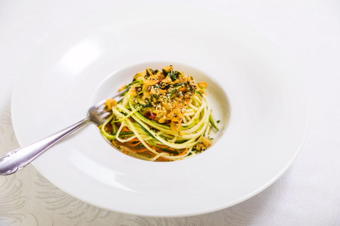 Zeleninové aglio olio