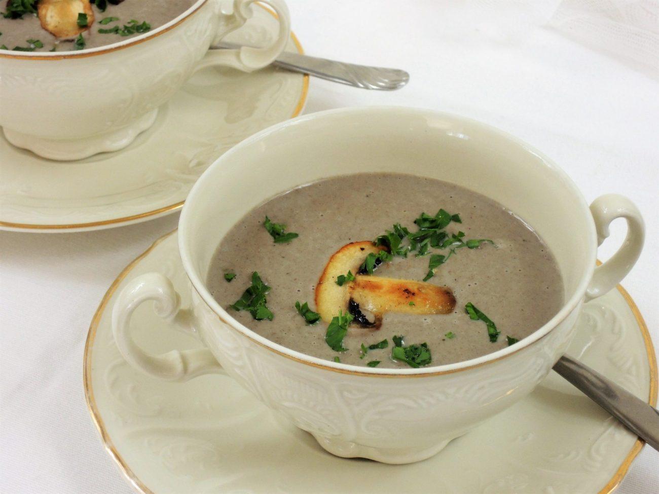 Krémová žampiónová polévka
