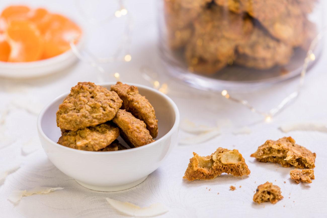 Mandarinkové ovesné sušenky