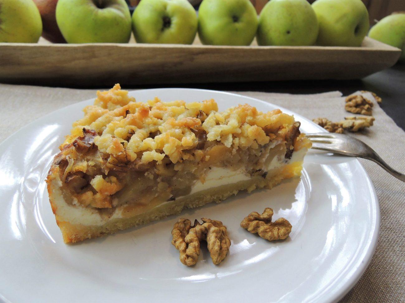 Tvaroho-jablečný koláč