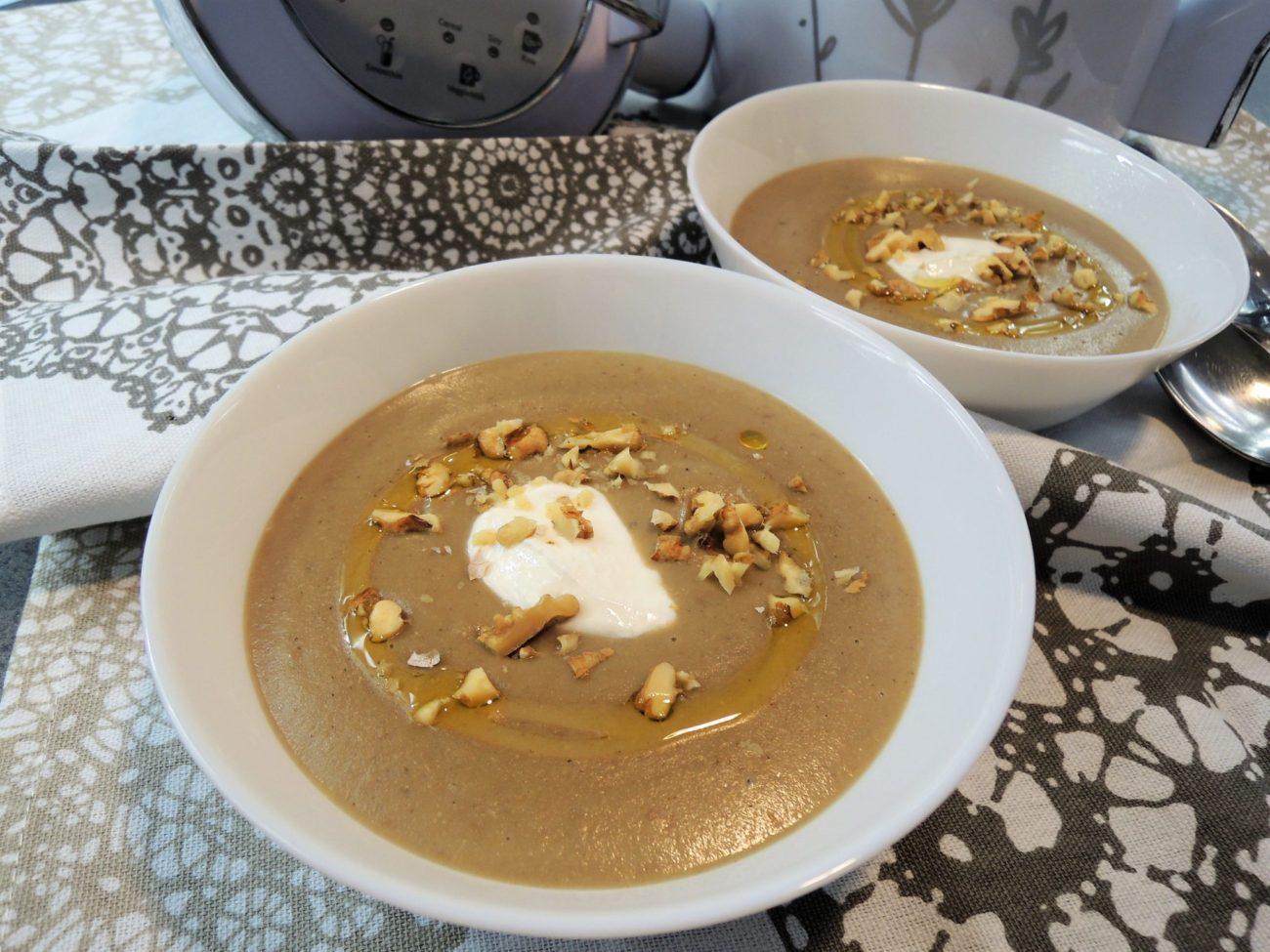 Lilková krémová polévka