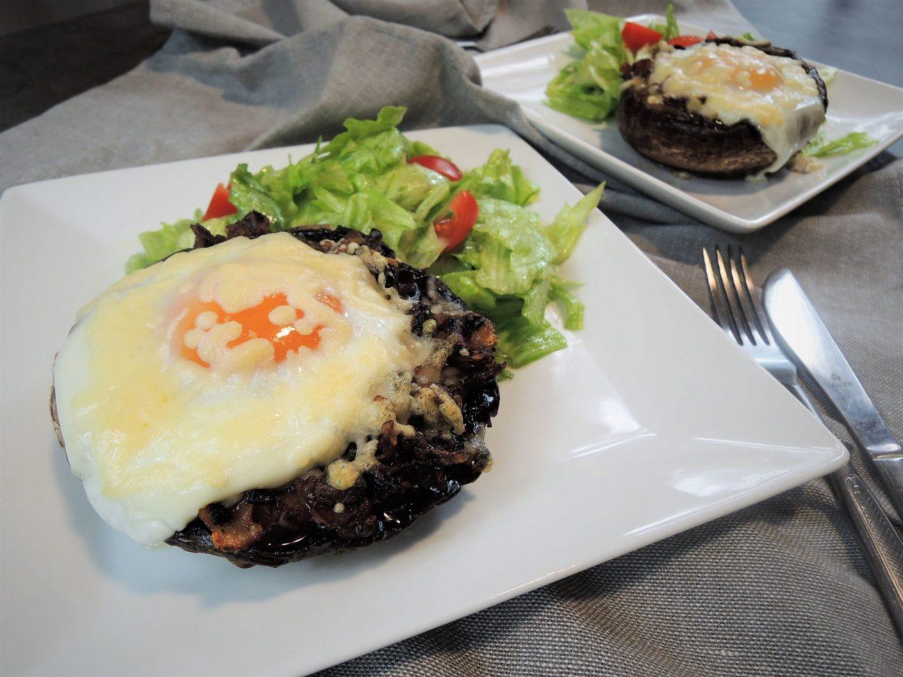 Zapečené portobello s pancettou a gorgonzolou