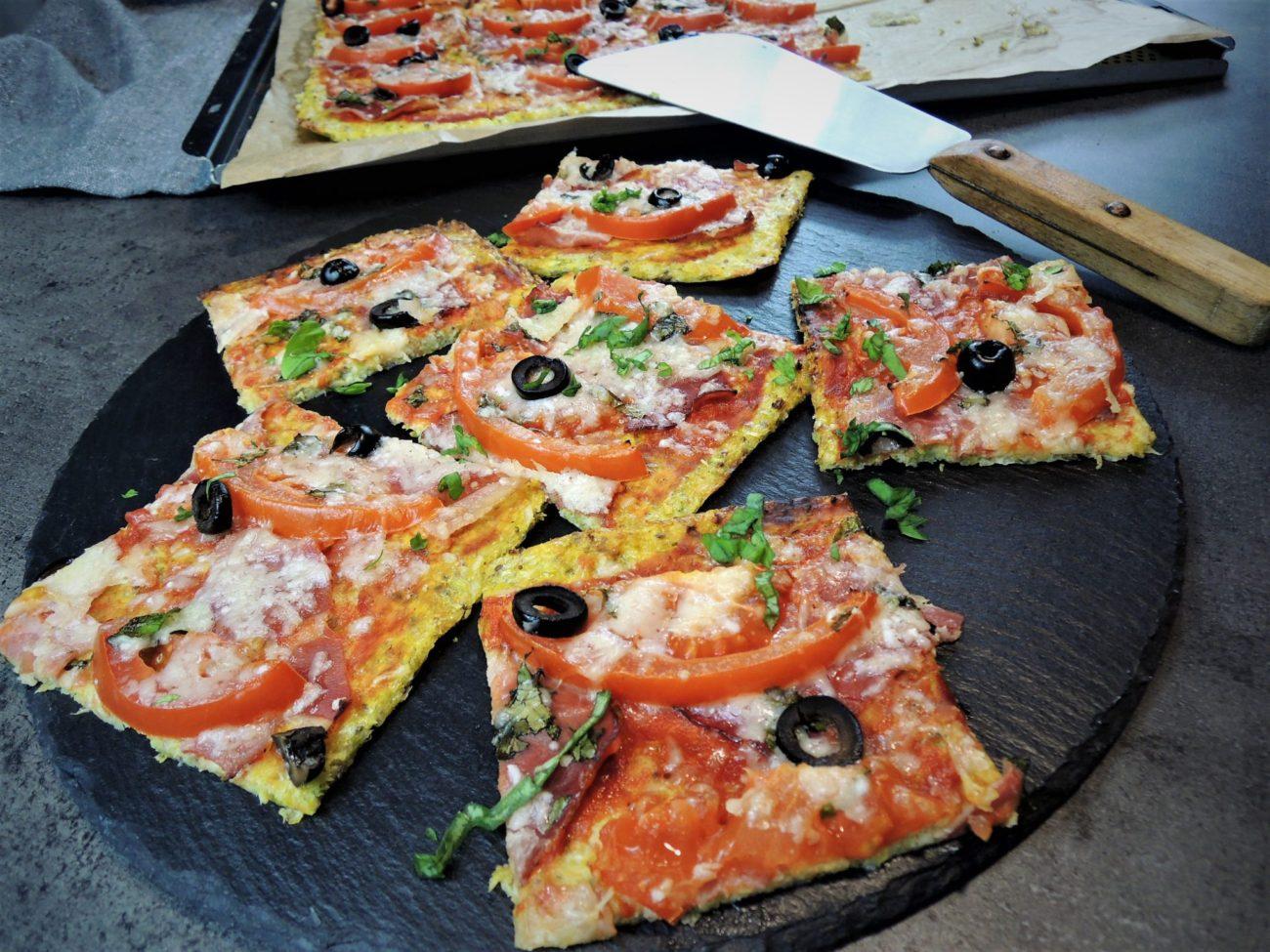 Pizza se zeleninovým korpusem