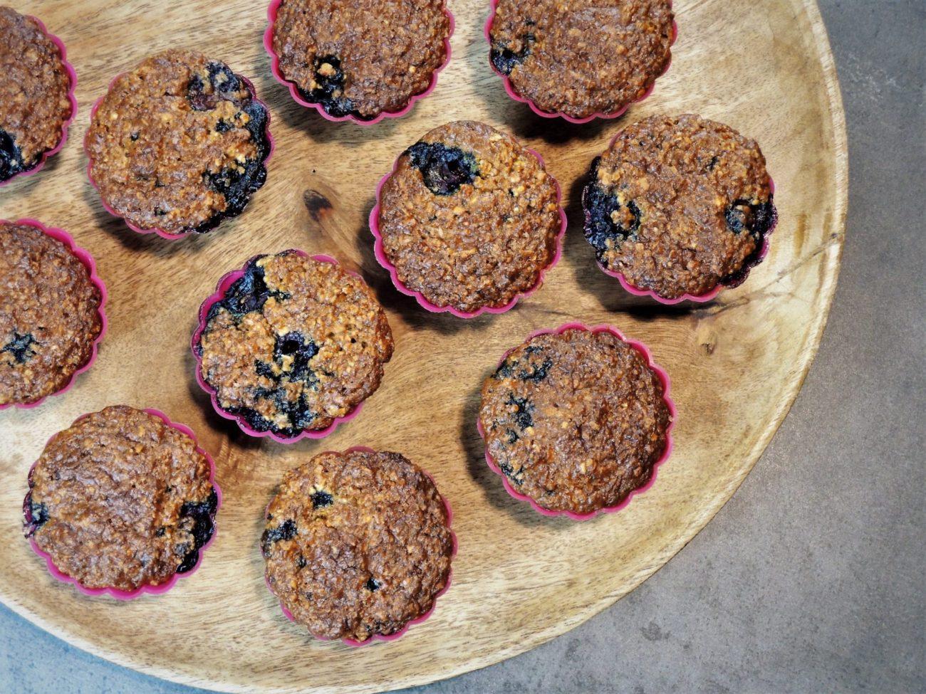 Borůvkové muffiny z ovesných vloček