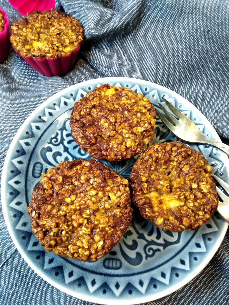 Jablečné muffiny z ovesných vloček