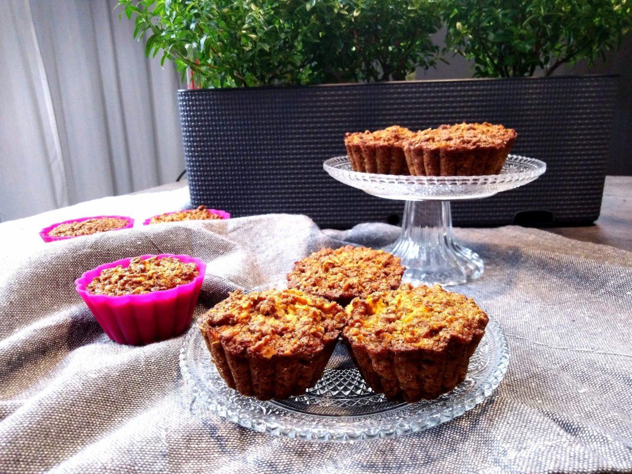 Ovocné muffiny z ovesných vloček