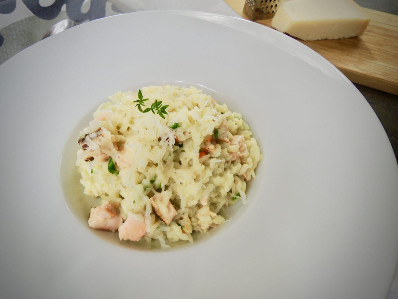 Krémové risotto s lososem
