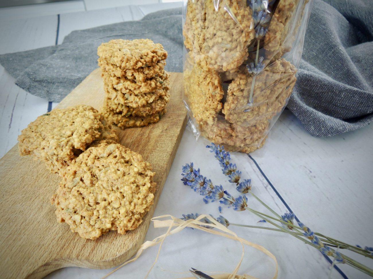 Ovesné sušenky s levandulí