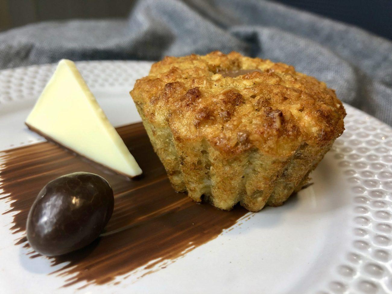 Tvarohové muffiny z ovesných vloček s banánem a kokosem