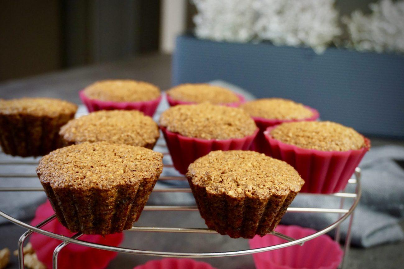 Ořechovo vločkové muffiny