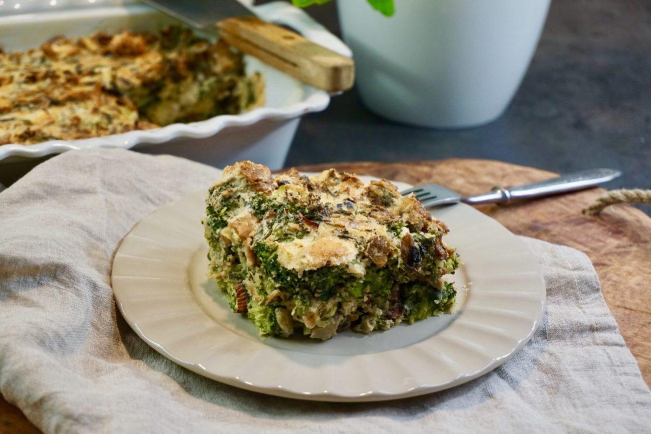 Nádivka s brokolicí a žampióny